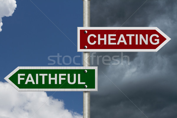 Stock photo: Cheating versus Faithful