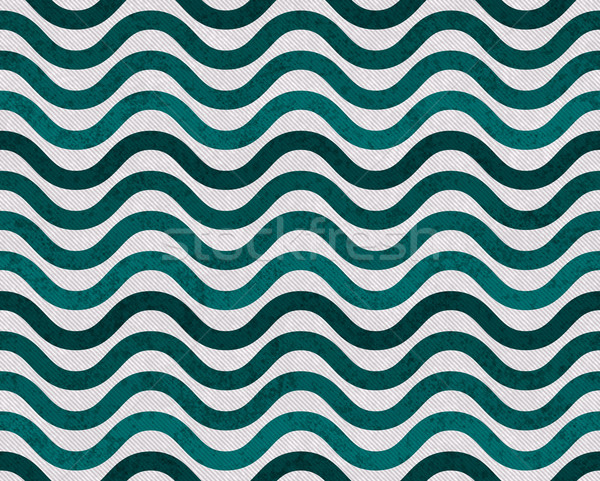 Teal and Gray Wavy  Textured Fabric Background Stock photo © karenr