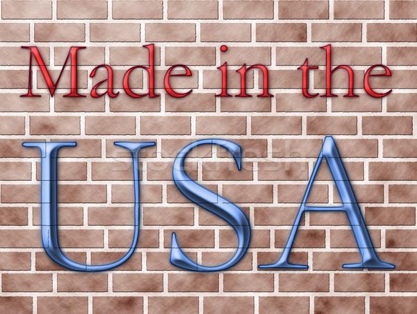 USA woorden Rood Blauw muur textuur Stockfoto © karenr