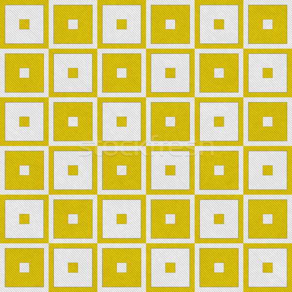 Yellow Tapestry Square Textured Fabric Background Stock photo © karenr