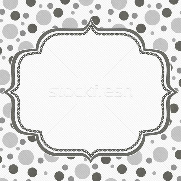 Gray and White Polka Dot Frame Background Stock photo © karenr