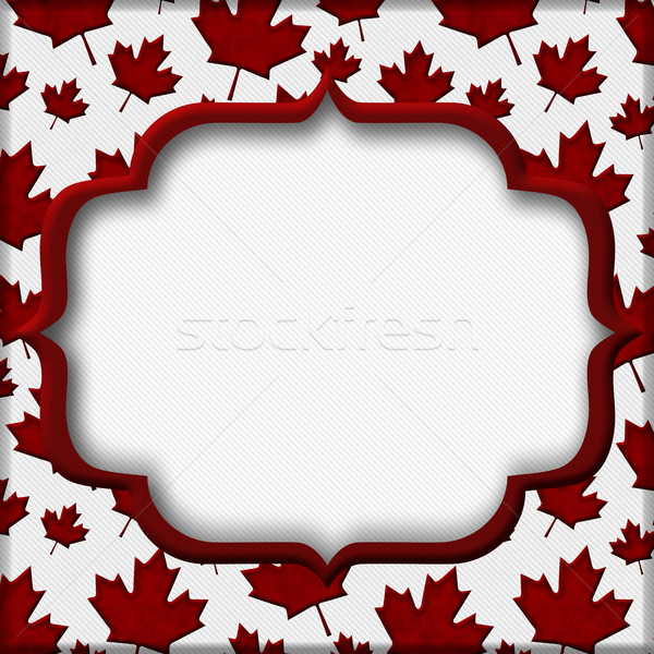 Otono tiempo rojo hojas de otoño tejido Foto stock © karenr