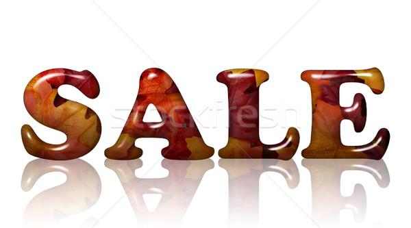 осень продажи слово 3D письма оранжевый Сток-фото © karenr