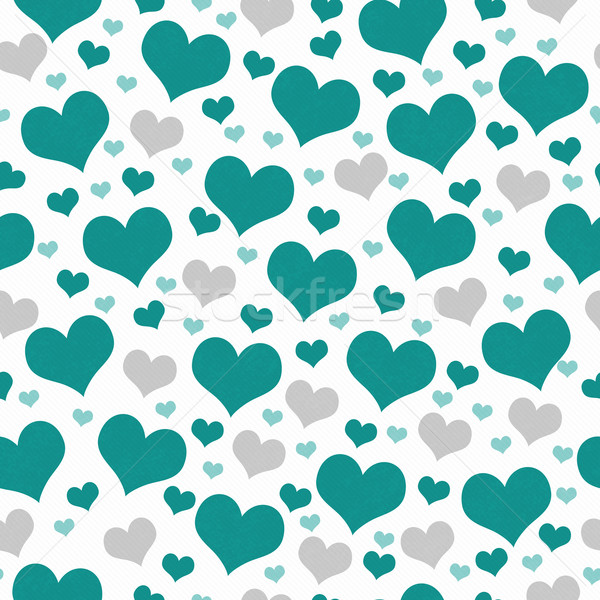 Green and White Hearts Tile Pattern Repeat Background Stock photo © karenr