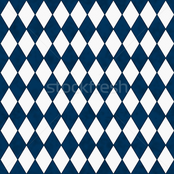 Navy Blue and White Diamond Shape Fabric Background  Stock photo © karenr