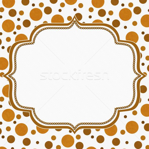 оранжевый белый кадр вышивка Швы Сток-фото © karenr