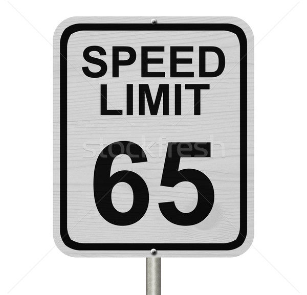 Speed Limit 65 Sign Stock photo © karenr