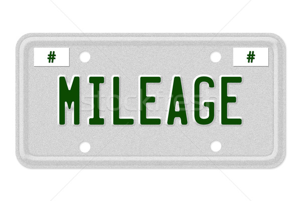 Mileage Car  License Plate Stock photo © karenr
