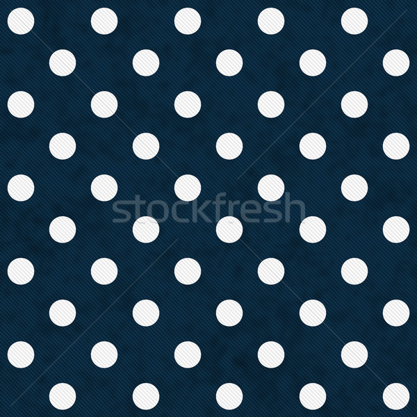 Beyaz lekeli mavi kumaş Stok fotoğraf © karenr