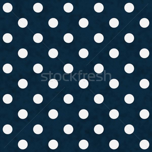 Witte Blauw weefsel naadloos Stockfoto © karenr