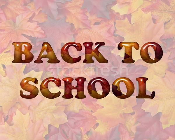 Back to School in Fall Leaves Stock photo © karenr