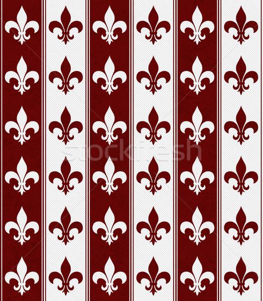 Witte Rood weefsel naadloos papier Stockfoto © karenr