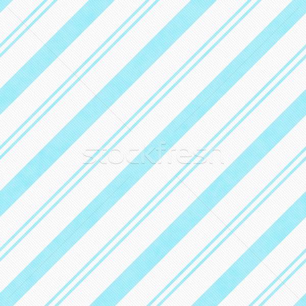 Teal Diagonal Striped Textured Fabric Background Stock photo © karenr