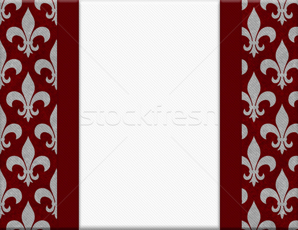 Red and Gray Fleur De Lis Textured Background Stock photo © karenr