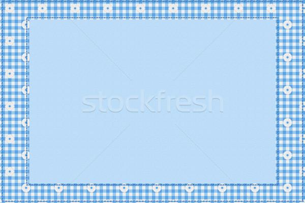 Bebé azul mensaje material frontera espacio de la copia Foto stock © karenr