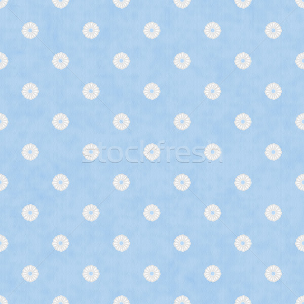 Pale Blue Fabric with Flowers Background Stock photo © karenr