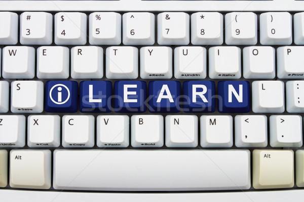 Treinamento internet teclas palavra aprender Foto stock © karenr