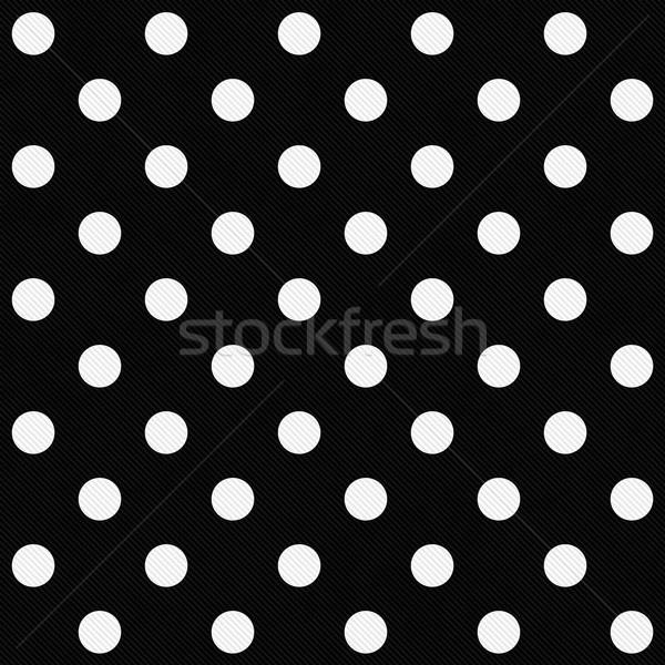 Witte zwarte weefsel naadloos Stockfoto © karenr