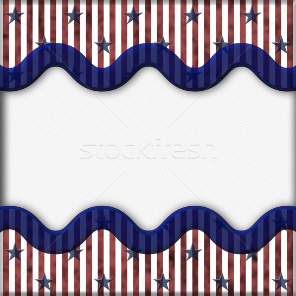Patriottico stelle tessuto copia spazio Foto d'archivio © karenr