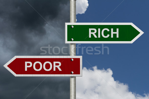 Rich versus Poor Stock photo © karenr