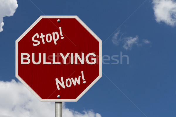 Stop Bullying Now Sign Stock photo © karenr