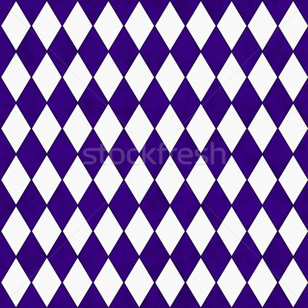 Purple белый Diamond форма ткань бесшовный Сток-фото © karenr