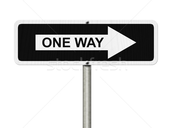 One Way Sign Stock photo © karenr