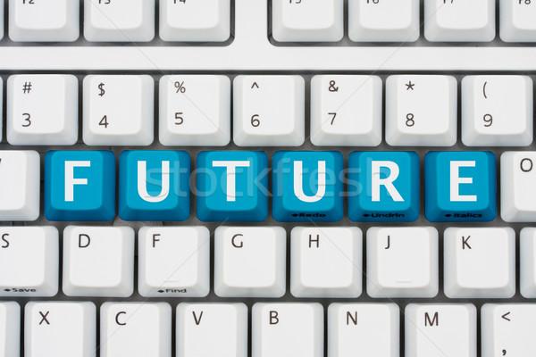 Tecnología futuro rojo claves ortografía Foto stock © karenr