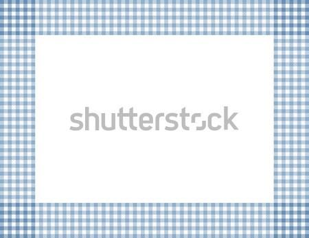 Blue Gingham Frame Stock photo © karenr