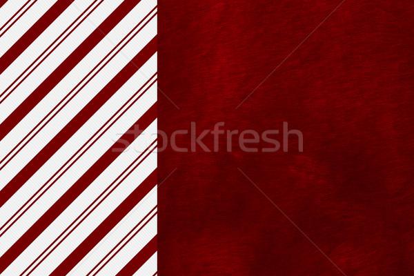 Noël temps bonbons canne rayé rouge Photo stock © karenr