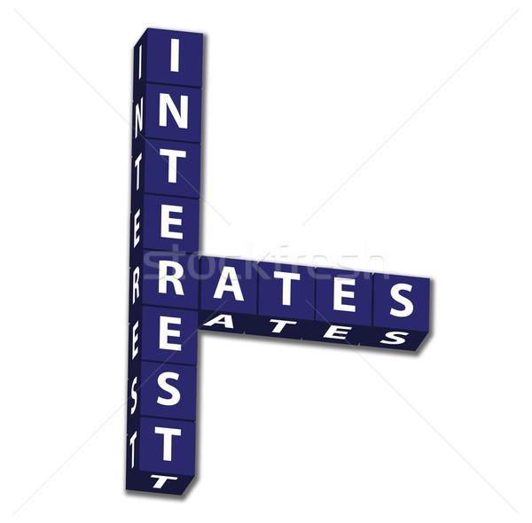 Blauw brieven woorden geïsoleerd witte Stockfoto © karenr