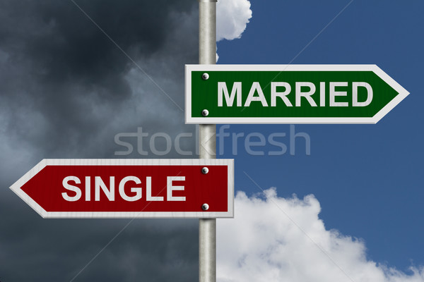 Married versus Single Stock photo © karenr