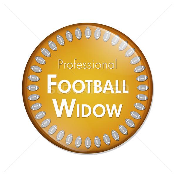 プロ サッカー 未亡人 ボタン オレンジ 白 ストックフォト © karenr