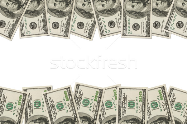 Money Border of hundred dollar bills Stock photo © karenr