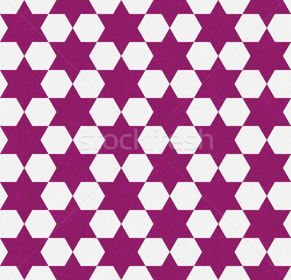 Dark Pink and White Hexagon Patterned Textured Fabric Background Stock photo © karenr