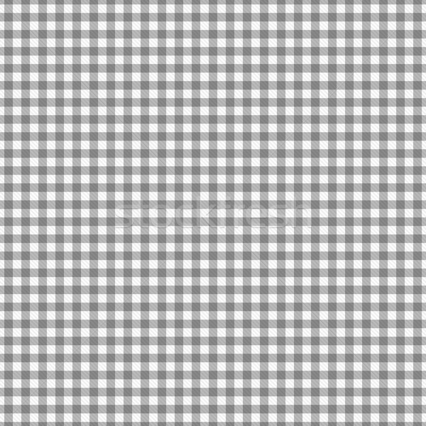 Gray Gingham Fabric Background Stock photo © karenr
