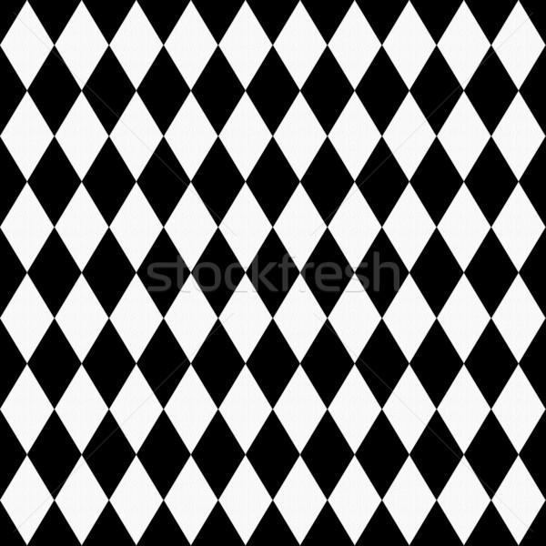 Black and White Diamond Shape Fabric Background Stock photo © karenr
