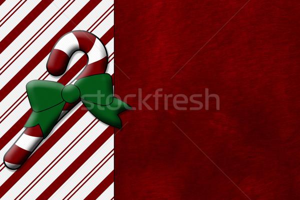 Рождества время конфеты тростник красный плюш Сток-фото © karenr