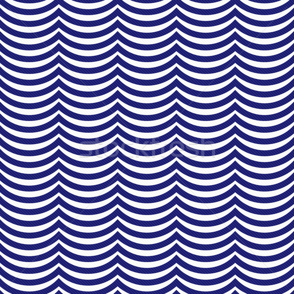 Navy Blue and White Wavy Stripes Tile Pattern Repeat Background Stock photo © karenr