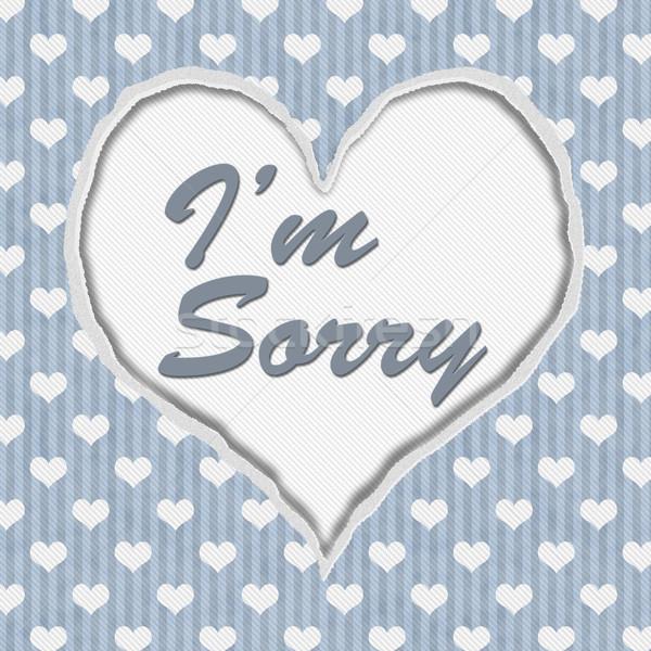 I'm Sorry Message Stock photo © karenr