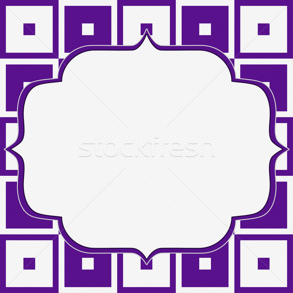 Purple and White Tapestry Square Fabric Background Stock photo © karenr