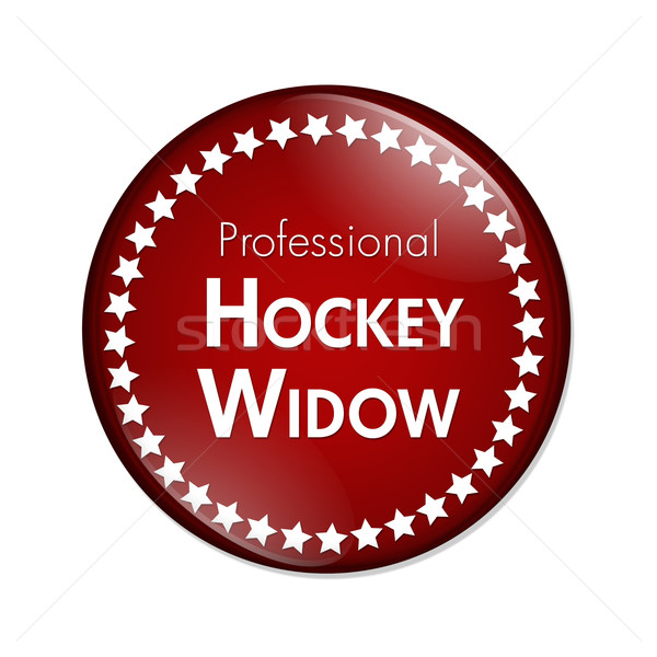 Professional Hockey Widow Button Stock photo © karenr