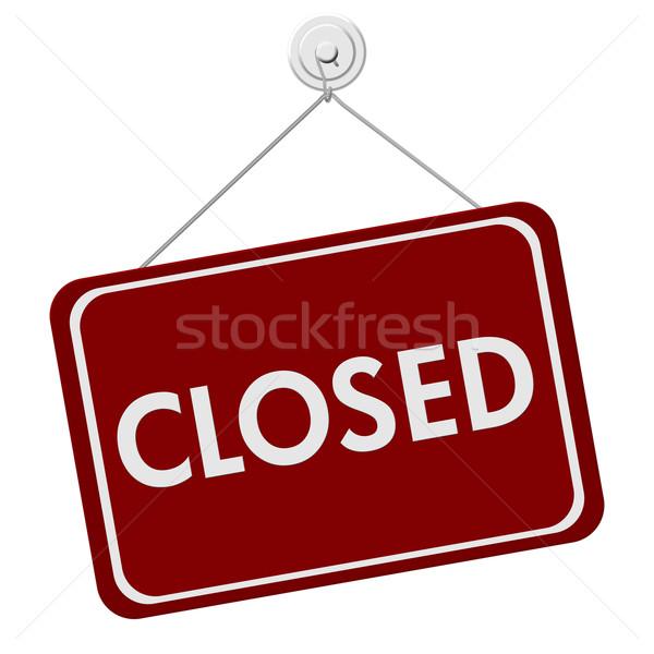 Closed Sign Stock photo © karenr
