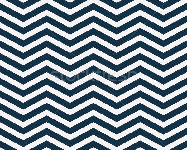 Navy Blue and White Zigzag Textured Fabric Background Stock photo © karenr