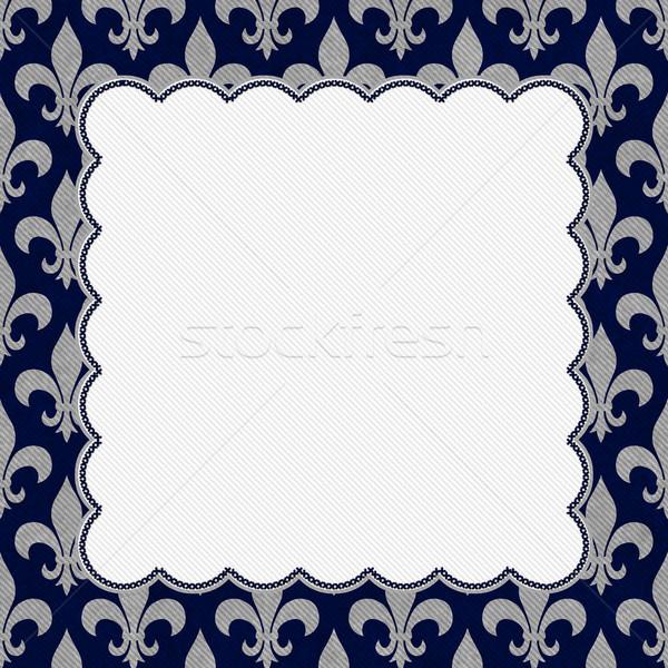 Azul cinza tecido centro cópia espaço Foto stock © karenr