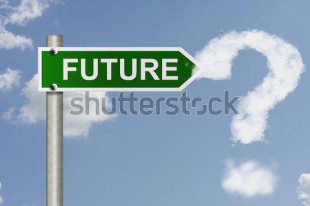 Qué sueños americano senalización de la carretera cielo espacio de la copia Foto stock © karenr