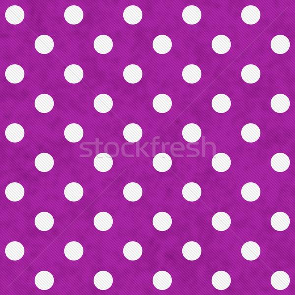 White Polka Dots on Pink Textured Fabric Background Stock photo © karenr