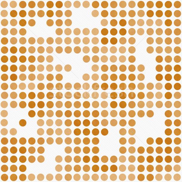 Pomarańczowy biały mozaiki streszczenie projektu Zdjęcia stock © karenr