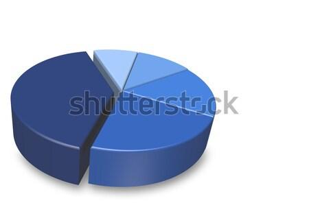 Empty blue 3D pie chart Stock photo © karenr