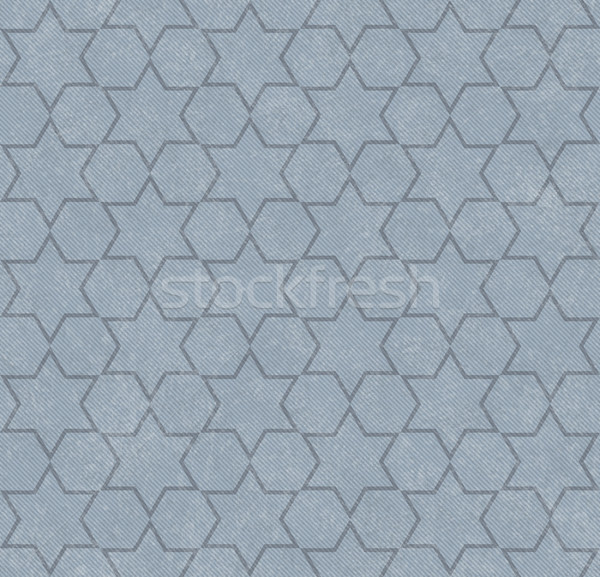 Blue Hexagon Patterned Textured Fabric Background Stock photo © karenr